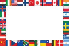 Frame Made Of World Flag Icons...