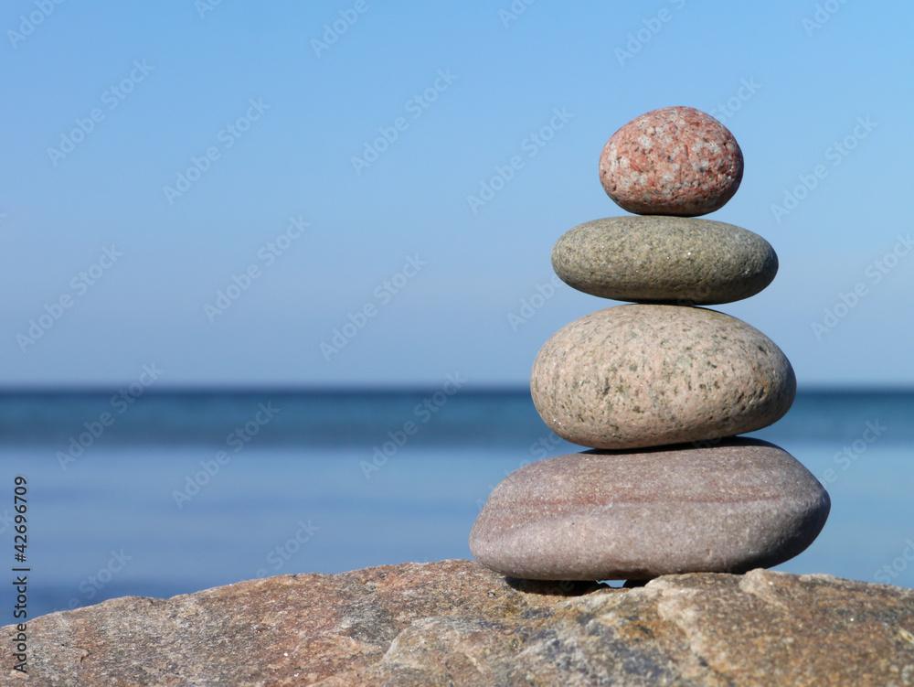 Doppelrollo mit Motiv - Zen