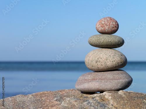 Doppelrollo mit Motiv - Zen (von Dagmar Richardt)