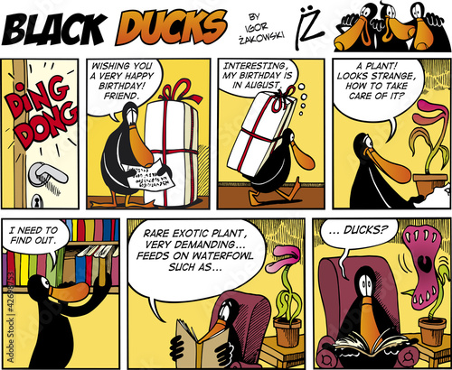 Printed kitchen splashbacks Comics Black Ducks Comics episode 74