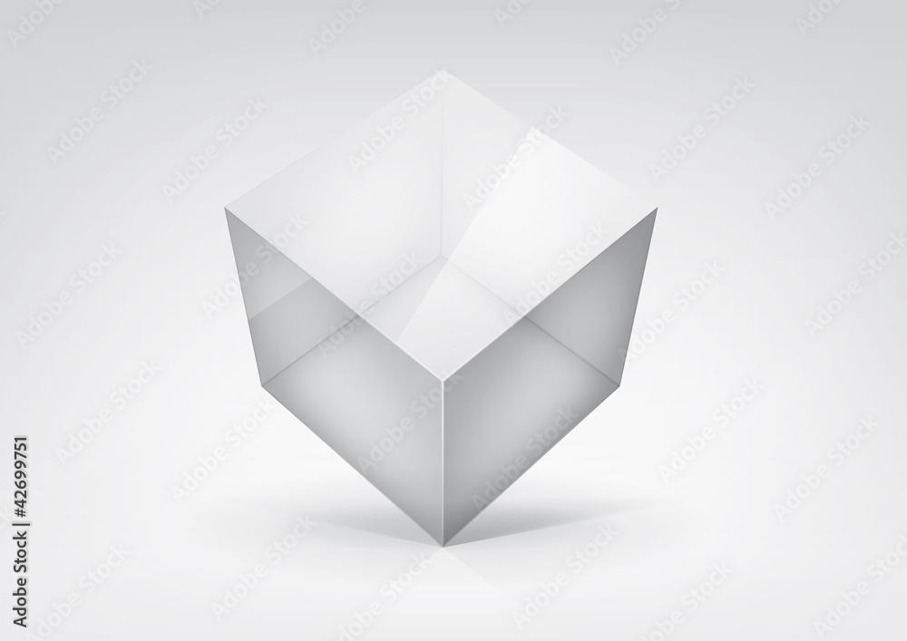 Fototapeta Vector  transparent cube for your graphic design