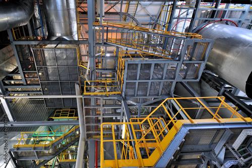 Staande foto Industrial geb. Impianto industriale eenrgetico