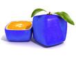 Leinwanddruck Bild - Sliced blue citric fruit