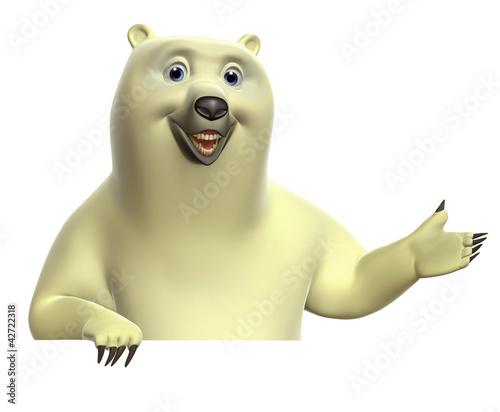 Keuken foto achterwand Sweet Monsters cartoon polar bear