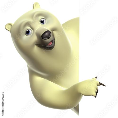 Garden Poster Sweet Monsters cartoon polar bear