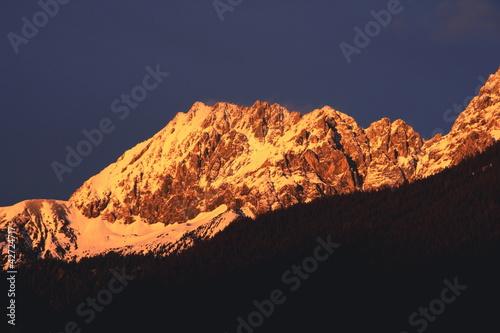 Photo Alpenglühen