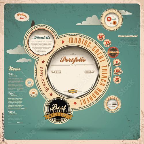 Fotografía  Vintage Web Design.