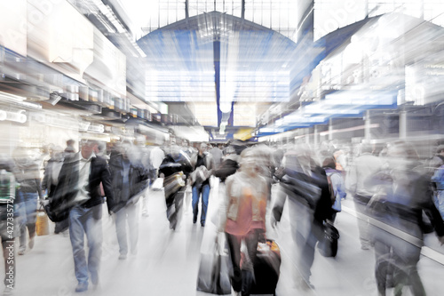 Poster Voies ferrées Hauptbahnhof, unscharf
