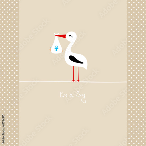 Tall Stork With Baby Boy