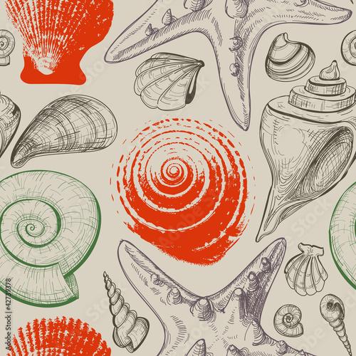 morze-muszle-retro-wzor