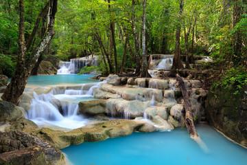 Obraz na Szkle Erawan Waterfall, Kanchanaburi, Thailand