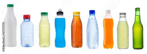 Obraz na płótnie set with different bottles