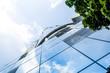 Leinwanddruck Bild - Bankenviertel Architektur Frankfurt