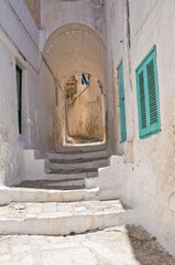 Fototapeta Alleyway. Ostuni. Puglia. Italy.
