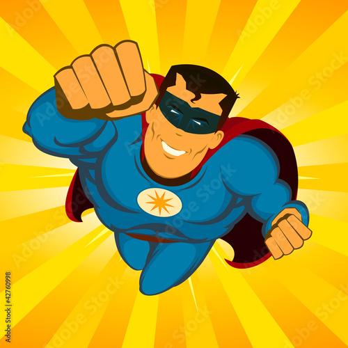 Flying Superhero - 42760998