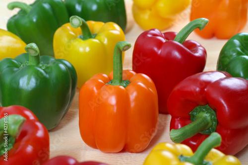 Fototapeta Colored bell peppers obraz