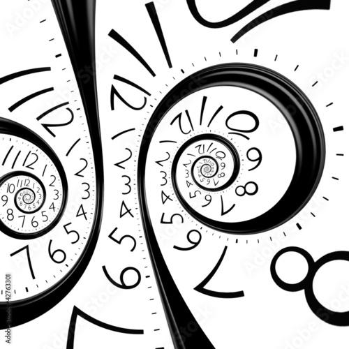 Fototapeta na wymiar infinity time spiral clock