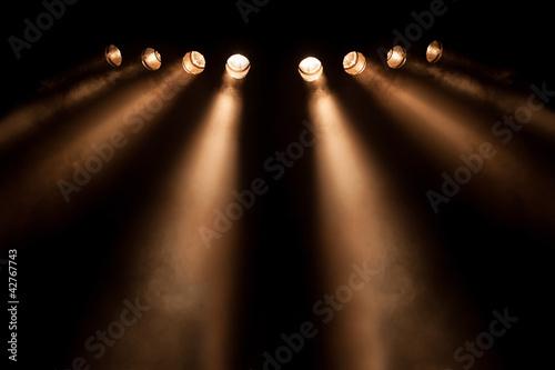 Fotografie, Obraz  Osm odlišné bodová světla v noci