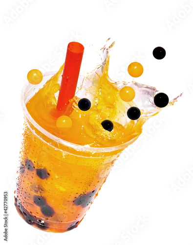 Canvas Print Bubble Tea Splash