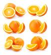 set of 6 orange images