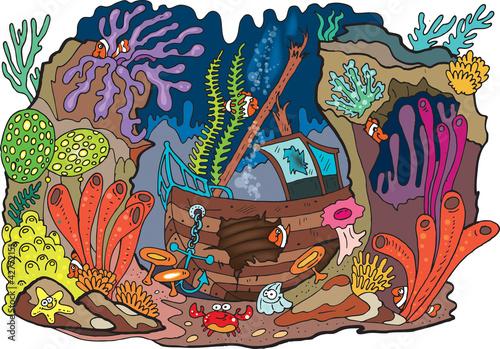 Recess Fitting Submarine Sea coral