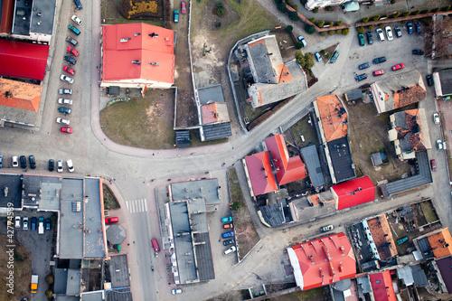 aerial view of Otmuchow town suburbs © mariusz szczygieł