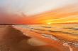 canvas print picture - Sonnenuntergang auf Hiddensee