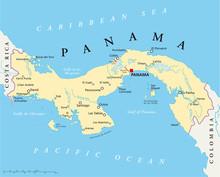 Panama Political Map With Capi...