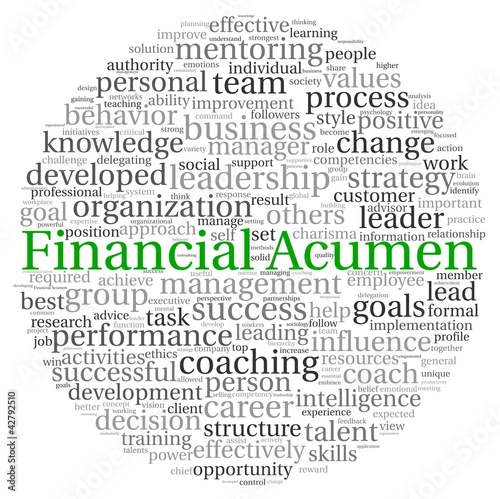 Financial Acumen concept in word tag cloud Canvas Print