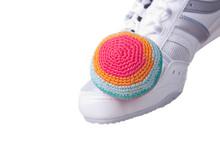 Crocheted Footbag.Popular Game...
