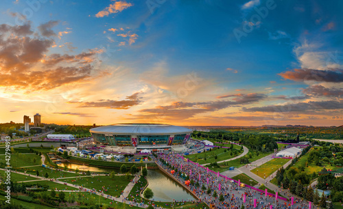 Canvas Prints Stadion Panorama of city Donetsk. A kind from a high-rise building.
