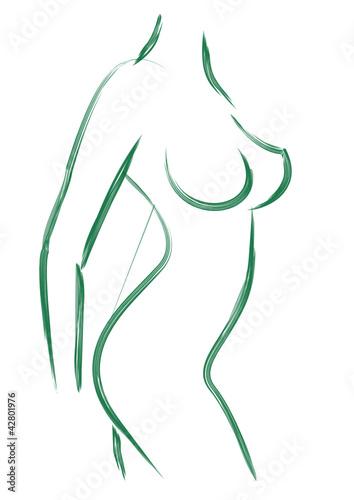 Obraz woman body - fototapety do salonu