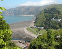 View Over Lynmouth From Lynton In Devon
