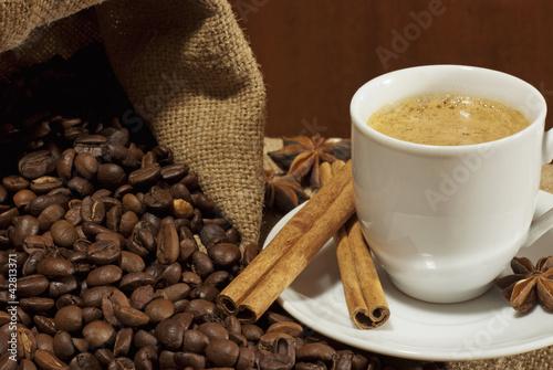 Spoed Foto op Canvas koffiebar Сoffee