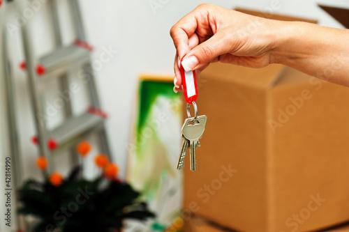 Fotografía  Schlüssel einer Wohnung beim Umzug.