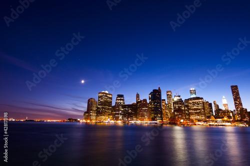 Manhattan in twilight scene
