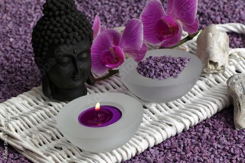 Doppelrollo mit Motiv - Wellness & Entspannung (von Carmen 56)