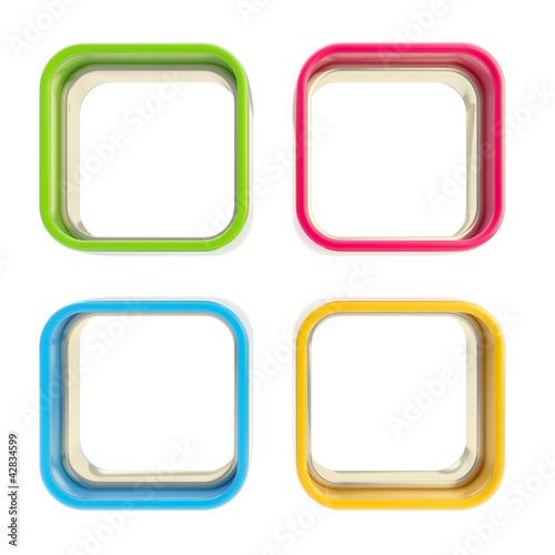 Four applet copyspace colorful boxes Canvas Print