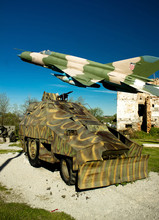 Military Vehicle And MIG 21 Ai...
