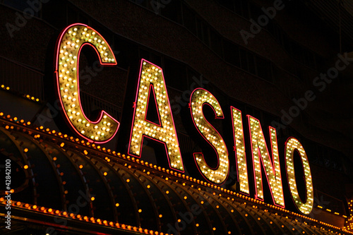 Poster Las Vegas Casino Sign