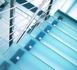 Leinwandbild Motiv Modern glass staircase