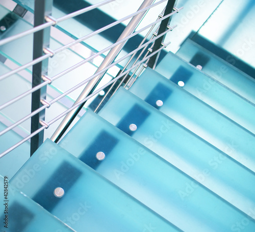 Wall Murals Stairs Modern glass staircase