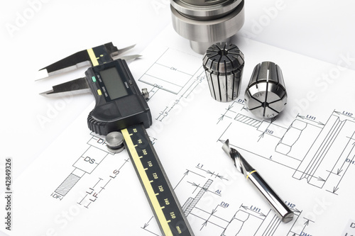 Obraz na płótnie Measuring machining tools