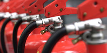 Fire Extinguishers Close-up 3d...