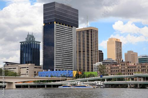 Staande foto Asia land Brisbane River and City, Australia