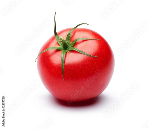 Fotografie, Obraz  Fresh tomato isolated on white background