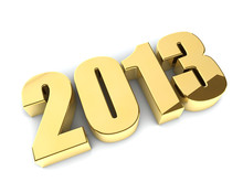 3D 2013 Year Golden Figures Wi...