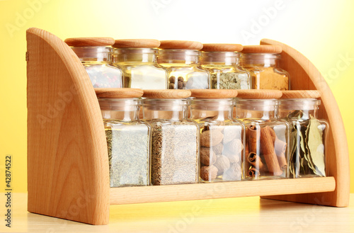 Photo Stands Herbs 2 powder spices in glass jars