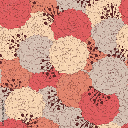 peony seamless pattern