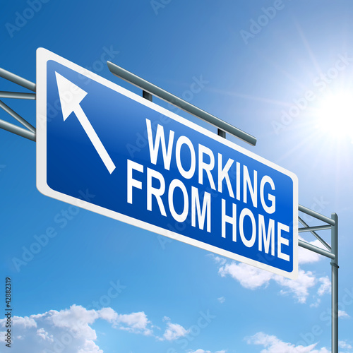 Working from home concept. Poster
